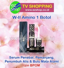 WII | W2 | W-II Amino Long Lashes Solution Serum Pelentik, Penebal, Pemanjang, Penumbuh Alis & Bulu Mata Alami 1 Botol Asli Ez Shop Tv Shopping Asia Pacific Izin BPOM Indonesia