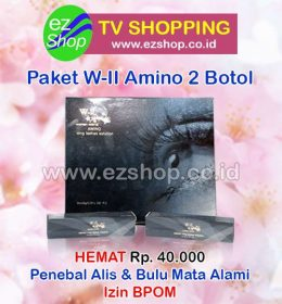 WII | W2 | W-II Amino Long Lashes Solution Serum Pelentik, Penebal, Pemanjang, Penumbuh Alis & Bulu Mata Alami Paket Hemat 2 Botol Asli Ez Shop Tv Shopping Asia Pacific Izin BPOM Indonesia