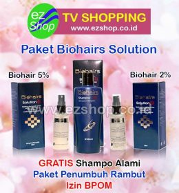 Paket Bio Hair Solution Serum Penumbuh Rambut Alami Asli Ez Shop Tv Shopping Asia Pacific Izin BPOM Indonesia