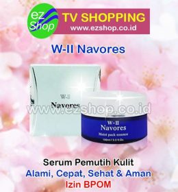 WII | W2 | W-II Navores Moist Pack Essence Serum, Cream, Krim, Obat Pemutih Kulit Alami Asli Ez Shop Tv Shopping Asia Pacific Izin BPOM Indonesia