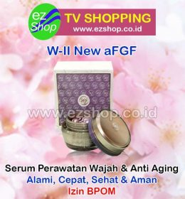 WII | W2 | W-II New aFGF Serum Obat Awet Muda Alami Asli Ez Shop Tv Shopping Asia Pacific Izin BPOM Indonesia