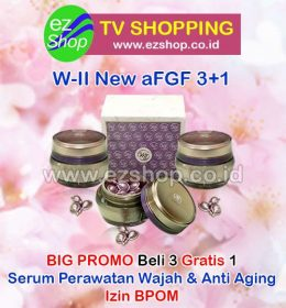 WII | W2 | W-II New aFGF Serum Perawatan Wajah & Anti Aging Alami Asli Ez Shop Tv Shopping Asia Pacific Izin BPOM Indonesia