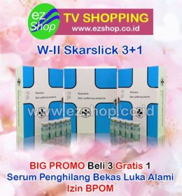 WII | W2 | W-II Skar Slick Skin Softening Essence Serum Penghilang Bekas Luka Alami Asli Ez Shop Tv Shopping Asia Pacific Izin BPOM Indonesia