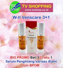 WII | W2 | W-II Vens Care Moisturizing Gel Serum Penghilang Varises Alami Asli Ez Shop Tv Shopping Asia Pacific Izin BPOM Indonesia